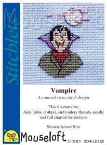 Mouseloft Vampire Stitchlets cross stitch kit